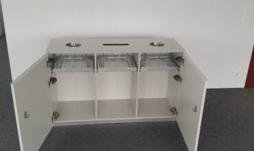 """Trijų dalių """"Longopac"""" atliekų tvarkymo sistema """"Telia"""" biuro patalpose"""