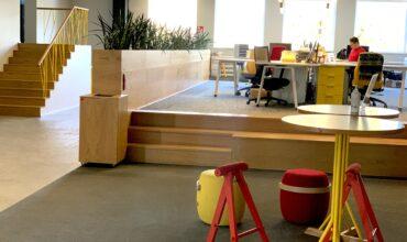 """SOL biuro atvirose erdvėse naudojamas """"Longopac"""" sprendimas mišrių buitinių atliekų rinkimui"""